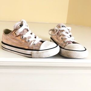 Converse kids rose gold sneakers